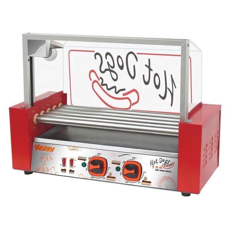 9 TUBE Hot Dogs Baked Machine Hot Dog Baking Machine Sausage Baking Tools Machine Restaurant Dog Roller