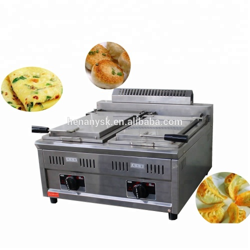 Vertical Gas Commerical Pancake Machine Fried Bun Frying Pan Meat Dumplings Machine