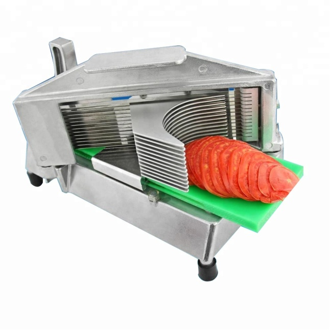 Commercial Stainless Steel Slim Manual Fruit Slicer Lemon / Tomato / Onion Slicer Fruit Cutter Slicing Tools