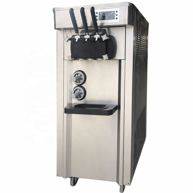 32L Cheaper 3 Flavors Commercial Auto Refrigerated Ice Cream Maker Soft Ice Cream Machine