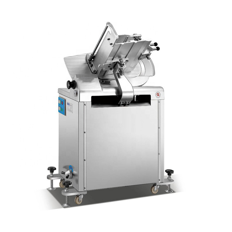350b 14' Fully Automatic Meat Slicer Being Designed For A Stand Up Machine Mutton Slicing Machine