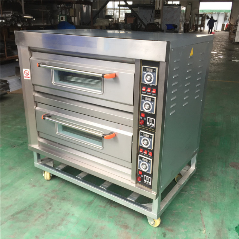 400degree Commercial electric 2 layer pizza baking Oven Professional bakery equipment for sale with stone panel
