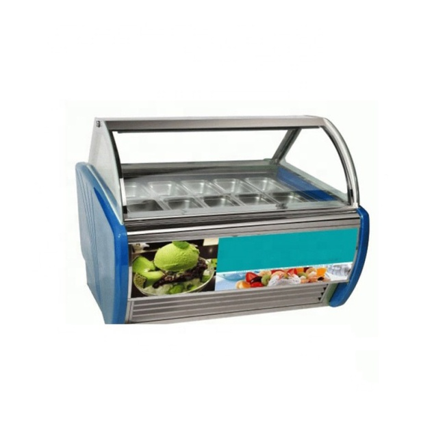 180L Transparent Cabinets Ice Cream Showcase Deep Freezer For Icecreams
