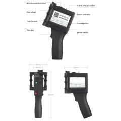 Handheld Inkjet Printer Production Date QR Code Automatic Coding Inkjet Printer Smart Portable Inkjet Printer