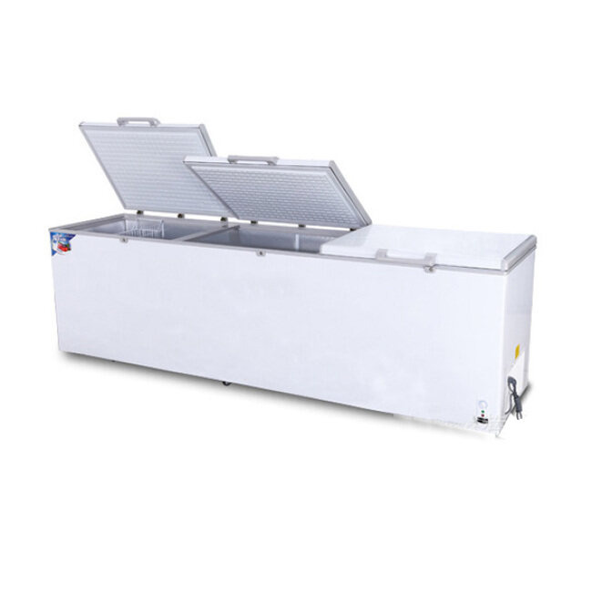 3300MM 1644L Horizontal Deep Freezer Refrigerator for supermarket