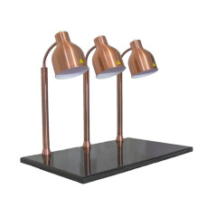 Electric 3 4 Head Copper Silver Collor Food Heating Lamp