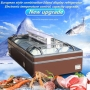 Wholesale 1.2m Supermarket European Refregerator Island Freezer Horizontal Combination Modern Island Freezer Display Cabinet