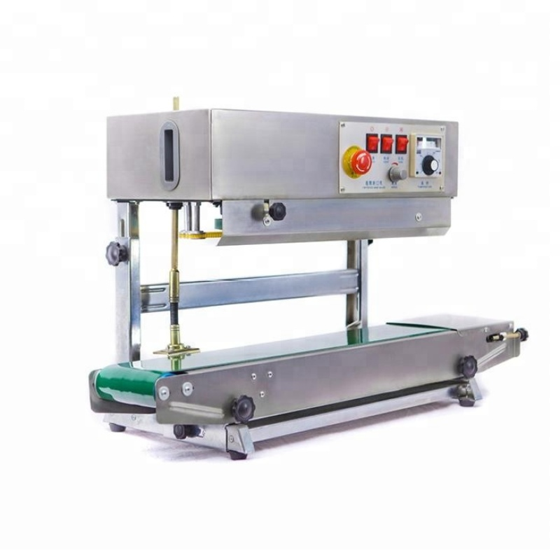 Vertical Horizontal Stainless Steel Packing Pouch Low Price Band Fr-900 Film Strip Bag Hot Continuous Sealing Machine Machinery
