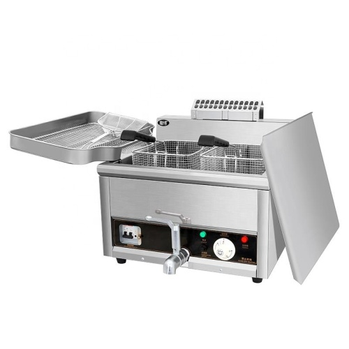 IS-ACH-17LE CE 17L Stainless Steel Electric Fryer Potato Fried Chicken Deep Fryer French Fries Machine