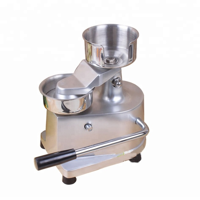100mm Stainless Steel Manual Burger Hamburger Bun Press Bread Making Forming MaQuina Patty Maker Machine Equipment
