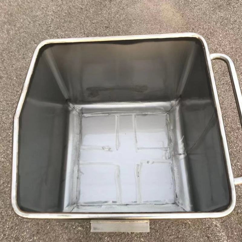 200L 304 stainless steel meat trolley hopper trolley turnover trolley removable trolley