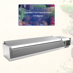GN Pans Showcase Pizza Salad Bar Fridge Salad BarSalad Display Refrigerator Fridge Keep fresh Cooler different pan
