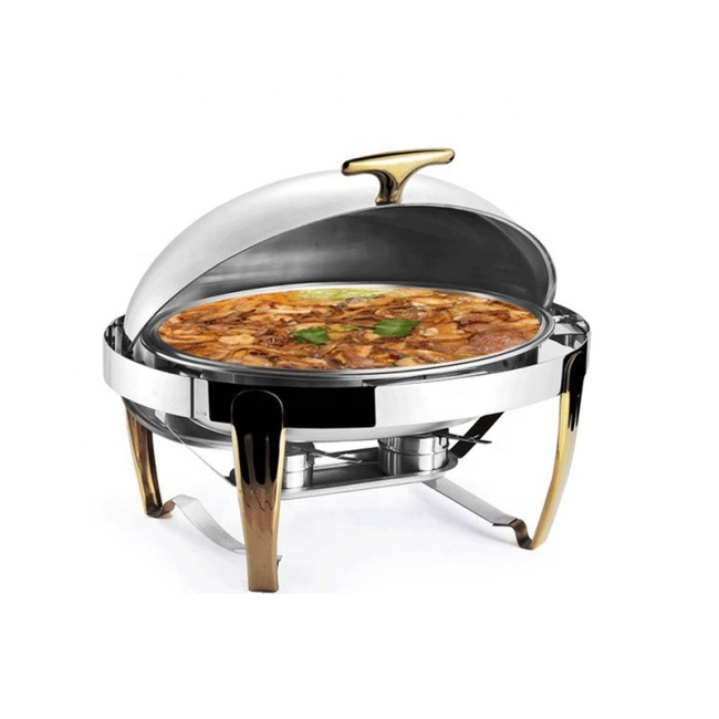 Stainless Steel Chafing Dish Buffet, 180 Degree Full Cover Buffet Catering Banqu