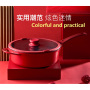 24 28cm Household Non Stick Pan Wok Frying Pan General Application Of Induction Cooker And Gas Range Steak Cooking Pot