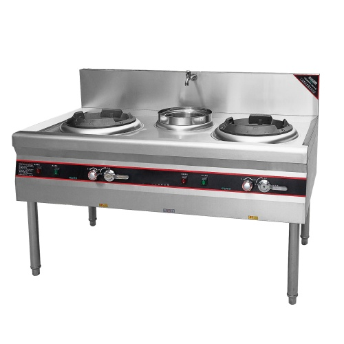 Wholesale Gasoline Cooktops Chinese Industrial Kitchen Wok Burner Kitchen Cooking and Warming Ranges With 3 CHIMNEY BURNERS