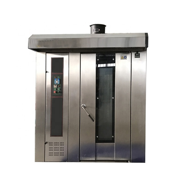 304 SS Stainless SteelHigh Quality Gas / Diesel / Electric 16 32 64 Trays Bread Commercial Bakery Hot Air Convection Rotary Oven