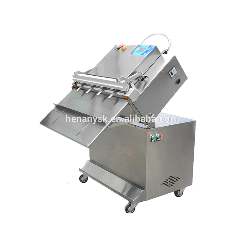 2019 New Version Vertical External Nitrogen Filling Vacuum Sealing Packaging Machine With 4 Filling Nozzle