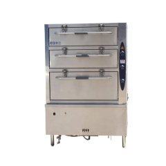 Gas Electric High Quality Stainless Steel 3 Door Steamed Energy-Saving Kitchen Equipment for Seafood Shrimp and Crab Steamer