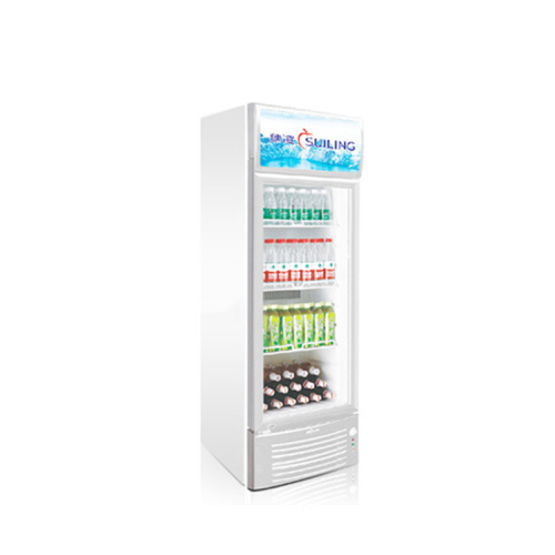 2017 New Food Grade Upright Glass Door Display Freezer of ISO9001 Standard