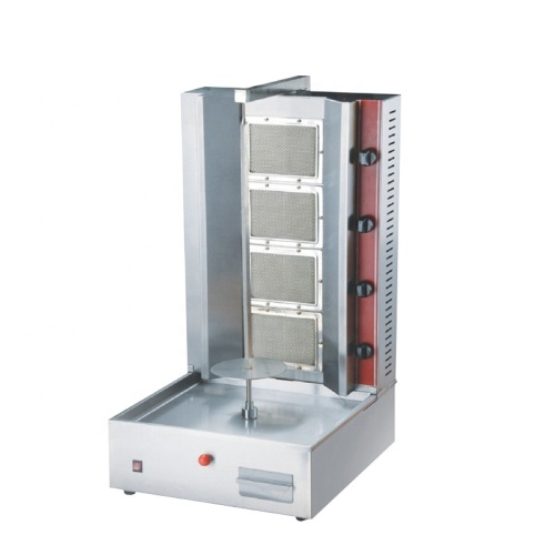 LPG / Natural Vertical 4 Burners Broiler Gas Doner Kebab Machine Gas Shawarma Grill For Meat