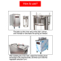 2 Holes Stailess Steel High Quality Dishes Warming Trays Food Warming Equipment