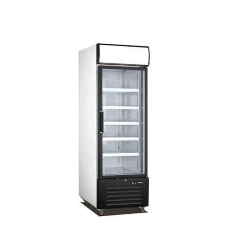 Single Glass Door freezer Refrigeration Commercial 1 Glass Door Black Merchandiser Refrigerator - 23 Cu. Ft.