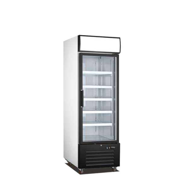 Single Glass Door freezer Refrigeration Commercial 1 Glass Door Black Merchandiser Refrigerator - 23 Cu. Ft.