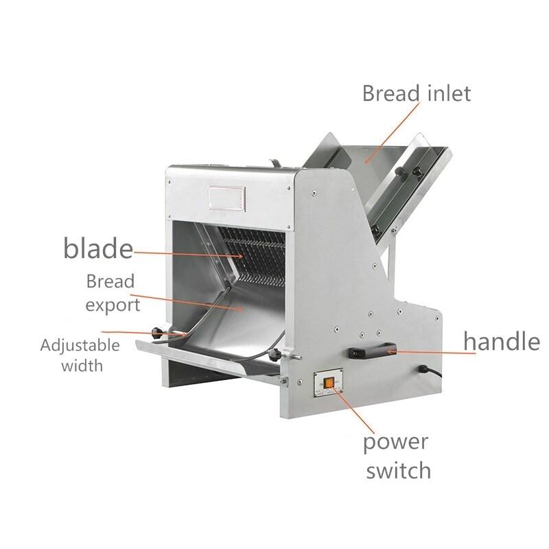 110v 220v All Kinds Of Adjustable Bread Slicer Machine Sliced Toast Blade Size Can Be Customized Industrial