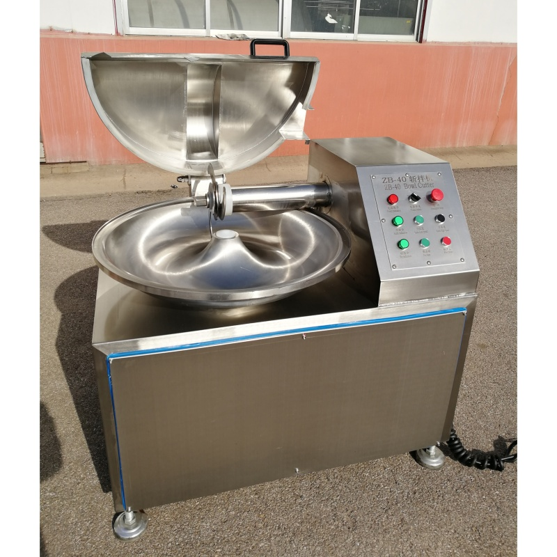 40L 80L 125L  304 SS High Efficiency Meat Bowl Cutter Variable Frequency Speed Adjustable Meat Mincer