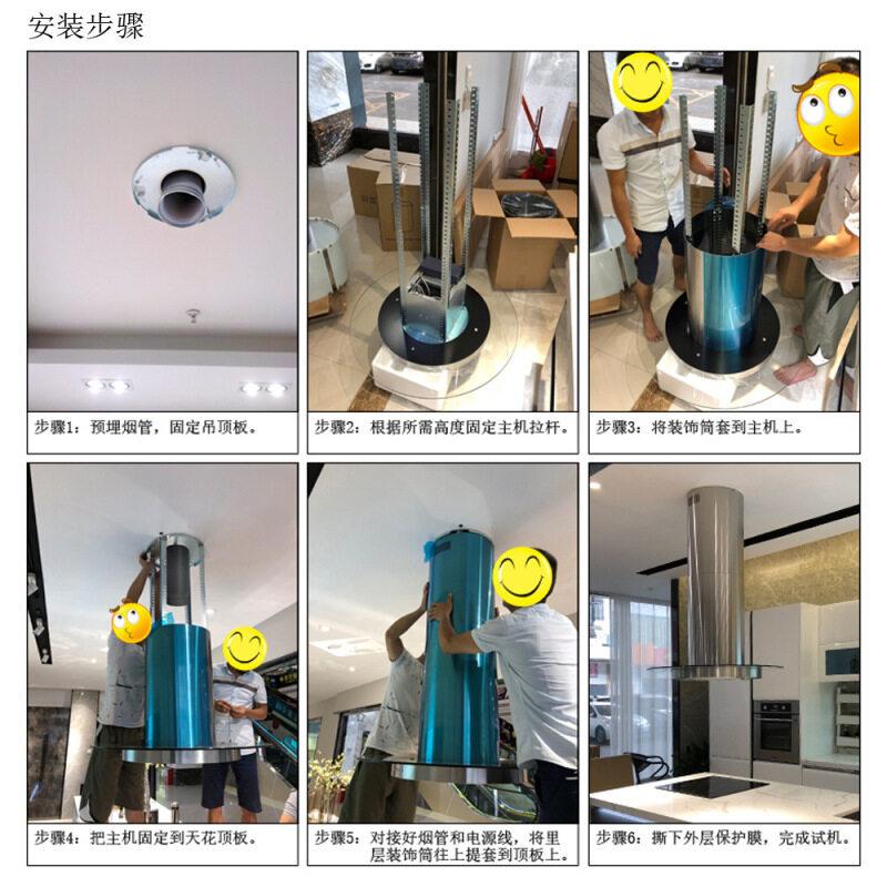 Island Range Hood Commercial Stainless Steel Kitchen Hood Filter Stainless Steel Island Range Hood