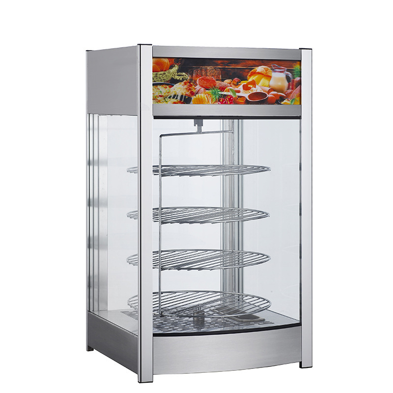 40cm diameter  Hot Sale Food Warmer Machines Heat Pizza Display Warming Glass Showcase Water in