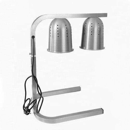 2 lamp Food Warmer Heating Element Heat Casseroles Display Store Equipment