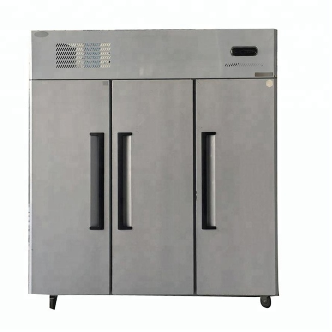 Commerical Freeezer at -5~-18 C 3 Big Doors Vertical Kitchen Freezer Cooler Refrigerator