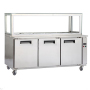 Stainless Steel Pizza Prep Table Refrigerator Refrigerated Pizza Table Restaurant Equipment