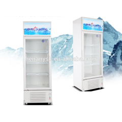 Commercial upright freezer Single Glass Door Beverage Display fridge