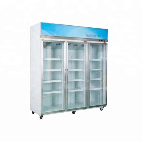 5--20C Vertical Chinese Herbal Medicine Cabinet Luxury Glass Door Medicine Storage Pharmacy Refrigerator