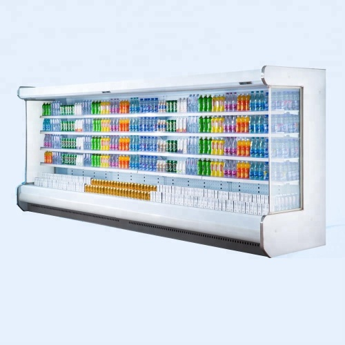 Low-e glass Supermarket Refrigerator Vegetable Refrigerating Showcase Upright Display Freezer for Supermarket