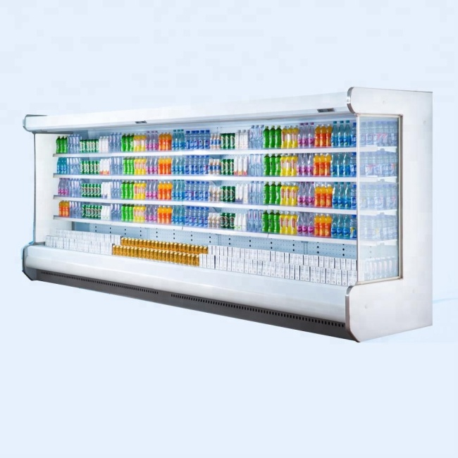 Low-e glass Supermarket Refrigerator Vegetable Refrigerating Showcase Upright Display Freezer for Supermarket