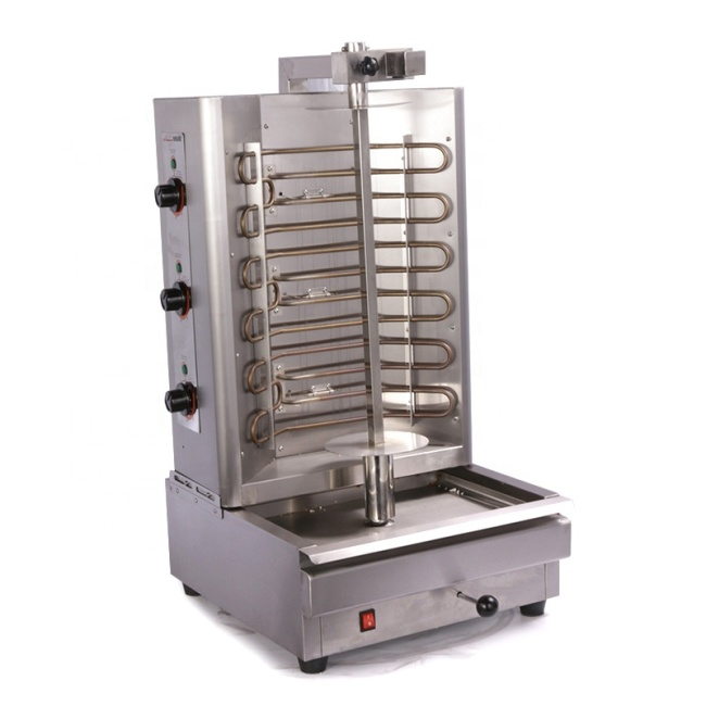 Electric Heating BBQ Grill Doner and Gyros Grill Gas Kebab Machine
