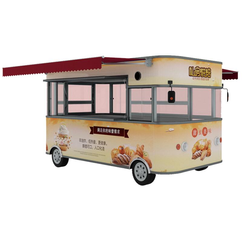 2019 Self Driven Food Trailer Snack Truck Machine Food Truck Trailer Mobile Food Trucks Ice Cream Coffee Mobile Kitchen Trailers