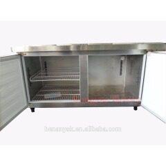 0~-15 Refrigerated Table 1.8 M Brass Refrigerated Bench Refrigerator