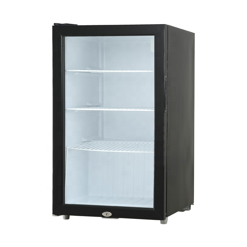 IS-SC-90 High-Efficiency Energy-Saving Black White Display Glass Cabinet Single Door Refrigerated Display Cabinet