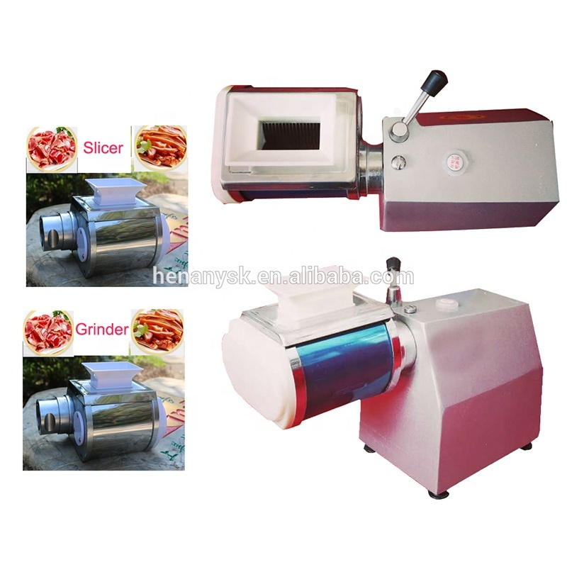 High Power Desktop Electric Meat Slicer & Grinder Commercial Meat Cutters Dice Machine