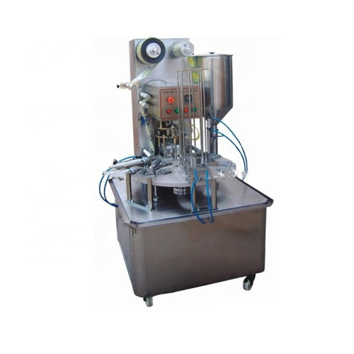 2019 New Arrivals Automatic Continuous Ice Candy Packaging Plastic Cup Filling Sealing Machine
