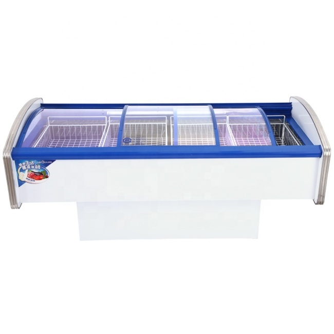 Large Capacity Seafood Fresh Horizontal Display Freezer