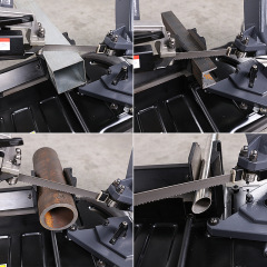 Portable 45 Cutting Machine Multi Function Pipe Material Steel Cutting Band Saw Electric Tool Hydraulic Woodworking Machine