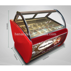 180L Display Cold Food Refrigerated Deep Freezer Ice Cream Showcase For Icecreams