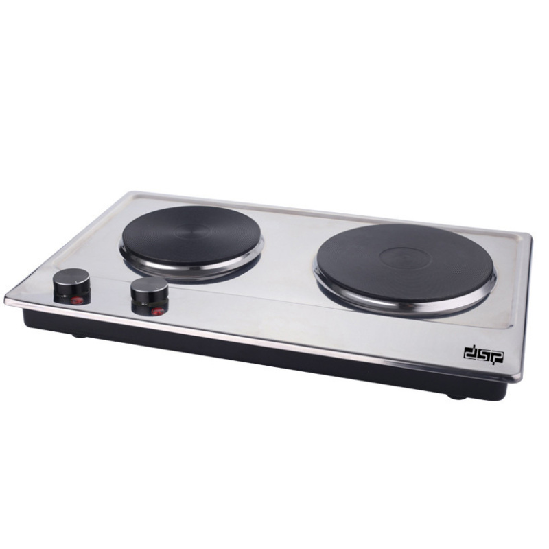 Double Head Electric Stove Household Desk Type Stainless Steel High Power Electric Stove Adjustable Temperature Electric Stove