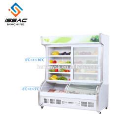 Cold Food Display Refrigerator 2 Glass Door Defrost Freezer Upright for Fruit and Vegetables China Manufacturer