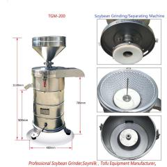 TGM-200 100-175kg/h Stainless Steel Soybean Grinding Machine for selling